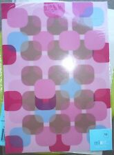 10 Sheets A4 Retro Sheer Vellum for Party Invitation Atomic Pink/brown/blue/red