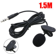 New Lavalier Lapel Clip-on Microphone Hands Free Wired Condenser Mini Mic 3.5mm