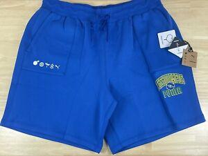 Puma x The Hundreds Reversible Olympian Blue/Green Sweat Shorts, Men's 2XL, NWT