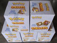 POKEMON Sticker Serie Art Box - 5x Display mit je 30 Tüten ( 1500 Sticker )
