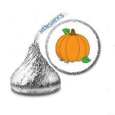108 PUMPKIN Halloween Party Favors Stickers Labels for Hershey Kiss