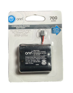 Onn Cordless Phone Battery 3.6V 700mAh NiMH - New