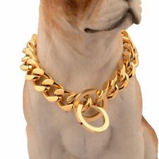 15mm Pet P Choke Chain Stainless Steel Training Dog Collars for Large Medium Dog