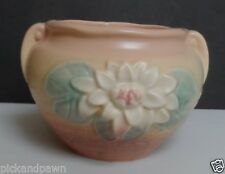 """Vintage Hull USA Art Pottery Water Lily Jardiniere Vase L-23 5 1/2"""" Tall"""