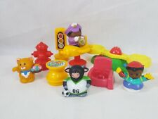 Fisher Price Little People Accessories Playground Chair Street Fish Bull Cat