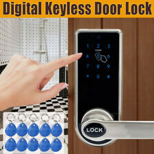 Digital Keyless Electronic Code Door Lock Entry Keypad Security + 10 Card Tags