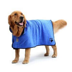 Dog Bathrobe XS-XL Pet Dog Bath Towel for Small Medium Large Dogs