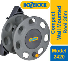 More details for hozelock 2420 compact wall mounted reel 30m + reel guide