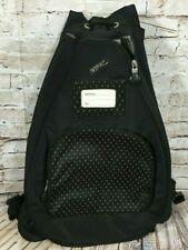 JETPAC Expandable Drawstring Black Tennis Everyday Shoulder Sling Backpack Bag