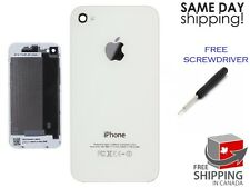 BRAND New Back Battery Housing Cover Glass Replacement for iPhone 4 A1332 WHITE