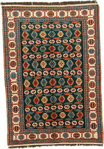 "Hand-Made  5'0"" X 7'1"" Afghani Kazak All Over Design Hand-Knotted  4X6 Area Rug"