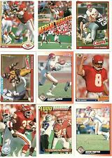 1980's and 1990's NFL Quarterbacks 30-Card Lot w/Five Hall-of-Famers