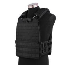 Black Tactical Plate Carrier & Cross Fit Vest Molle Army Swat Police Combat Vest