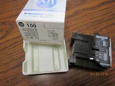 ALLEN BRADLEY NIB Contactor Relay 100-A12NJ3 Series B  24vac coil