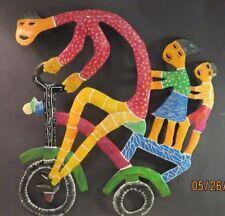 "Metal Art Work Haitian? Wall Art, 10"" Decorative bright colors 19"" x 16"""