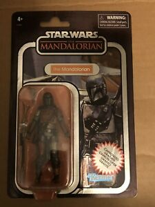 Mandalorian Carbonized Graphite Figure VINTAGE Collection Star Wars TVC ...MONMC