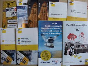 10 Belgian Bus & Tram Timetables Maps Leaflets 2000 - 2010 De Lijn Set 8