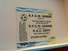 Football Ticket - UEFA - KFCW Hamme - KAA Gent - Coca cola cup 1997