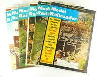 Model Railroader Magazines 1966 Lot of 6 Model Trains Vintage Collectible