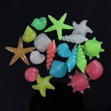 60pcs Glow in the Dark Stone Luminous Sea Conch Shells Aquarium Fish Tank Decor