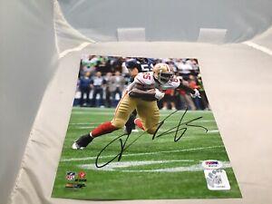 Vernon Davis Signed San Francisco 49ers 8x10 Photo Autographed PSA/DNA COA 1B