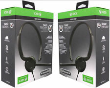2-LOT PowerA Official Xbox One S Chat Headset Gaming Microphone Mute Control