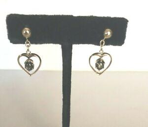 10k Rose Gold & Black Star Sapphire Dangle Earrings