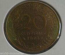 20 centimes marianne 1978 : SUP : pièce de monnaie française