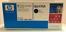 Genuine HP 501A Q6470A 6000-Page Laser Toner Cartridge - Black
