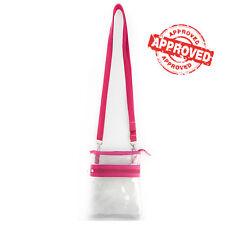 HOT Pink Small Transparent Purse Clear Handbag Shoulder Cross body Bag Concert