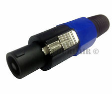 4 Pole Conductor Speaker Cable Male Connector End for SPEAKON Audio Loudspeaker