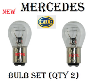 Clear Brake Marker Light Bulb Set of 2 Bulbs (Qty 2) for Audi BMW Mercedes