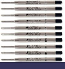10 - MONTEVERDE Ballpoint Parker Style GEL Pen Refill - BROAD / BOLD BLUE-BLACK