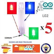 5 Diodos Led RGB 5mm 4 pines Tricolor Catodo Comun Arduin Robotica 3D L02
