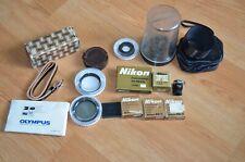 VTG Nikon F Nikkor Camera Parts Lens Hood Eye Piece Screen Battery Pack UV Filtr