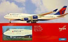 Herpa Wings 1:500 Boeing 747-400 DELTA N674US 506915-002 modellairport500