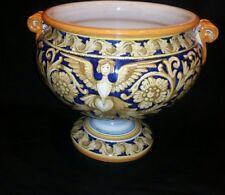 "Large 14"" x 11"" Deruta Italian Glazed Terracotta Vase/Flower Pot"