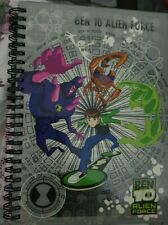 NEW BEN 10 ALIEN FORCE HARD BACKED A5 LINED NOTE BOOK
