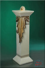 Säule Lampe Stehlampe Blumensäule Säulen Medusa Mäander Säule mit Licht Stuckgip