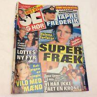 """Helene Christensen Naked Photos In Vintage Danish Magazine 1997 """"Se og Hoer"""""""