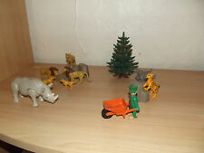 playmobil 3516 3239 3829 lot d'animaux zoo 80'