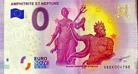 BILLET 0  EURO  AMPHITRITE ET NEPTUNE  FRANCE  2017  NUMERO DIVERS