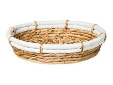 Nate Berkus Round Water Hyacinth Tray NEW