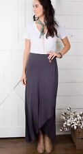 Matilda Jane Sweet And Simple Maxi Skirt Large Gray Knit Joanna Gaines NWT