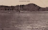 Vintage Real Photo Postcard RPPC 1909 Clallam Bay, WA Aerial P. Wischmeyer