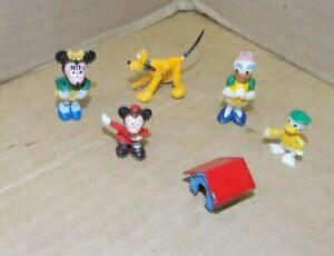 Vintage Marx Disneykins lot of 5 plus pluto's dog house