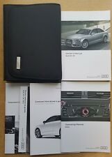 AUDI A4 S4 SALOON AND AVANT HANDBOOK OWNERS MANUAL 2011-2015 WALLET PACK C-230