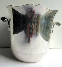 Ancien seau à glace Art Déco, beau métal argenté, poinçonné, signé ERCUIS