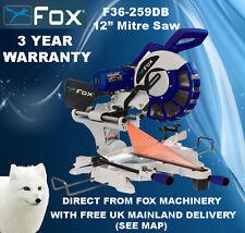 Fox F36-259DB Double Bevel Mitre Scie 240V garantie 3 ans