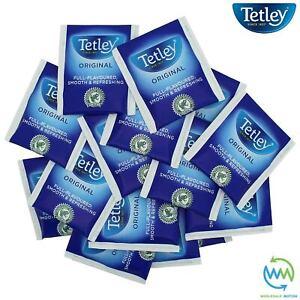 TETLEY Tea Bags SACHETS Individual ENVELOPED Tagged Bag 100% BLACK Classic Pack